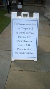 Chapel Placard II