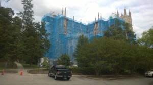 Duke Chapel Scaffolding