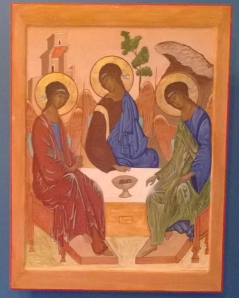 Праздником, икона троица открытки