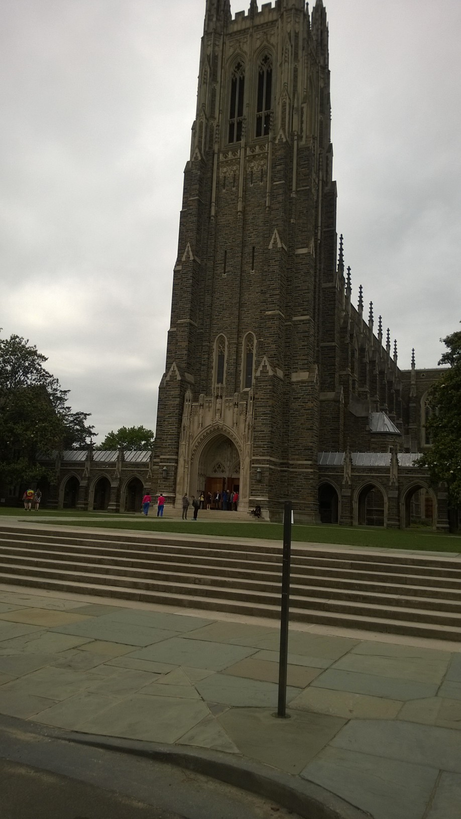 Duke Chapel Arrival