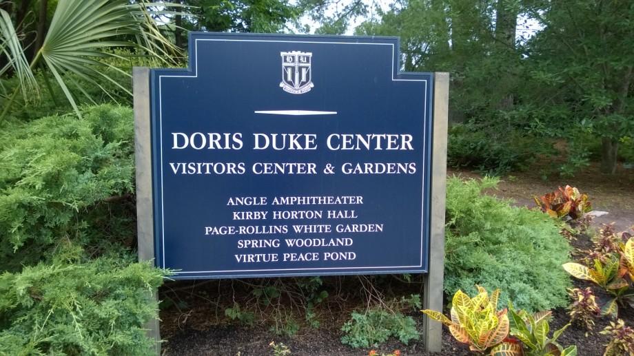 Duke Gardens Sign