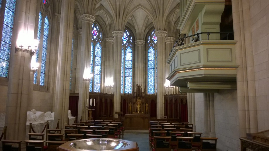 Memorial Chapel with Scarcaphogi of Washington Duke and his Two Sons James Duke and Benjamen Duke