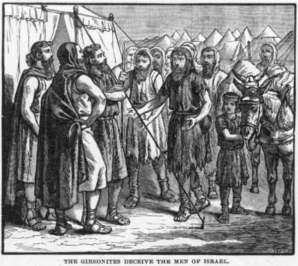 Gibeonites deceive Joshua